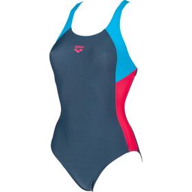 arena Ren One Piece Swimsuit Dames, shark/turquoise/freak rose